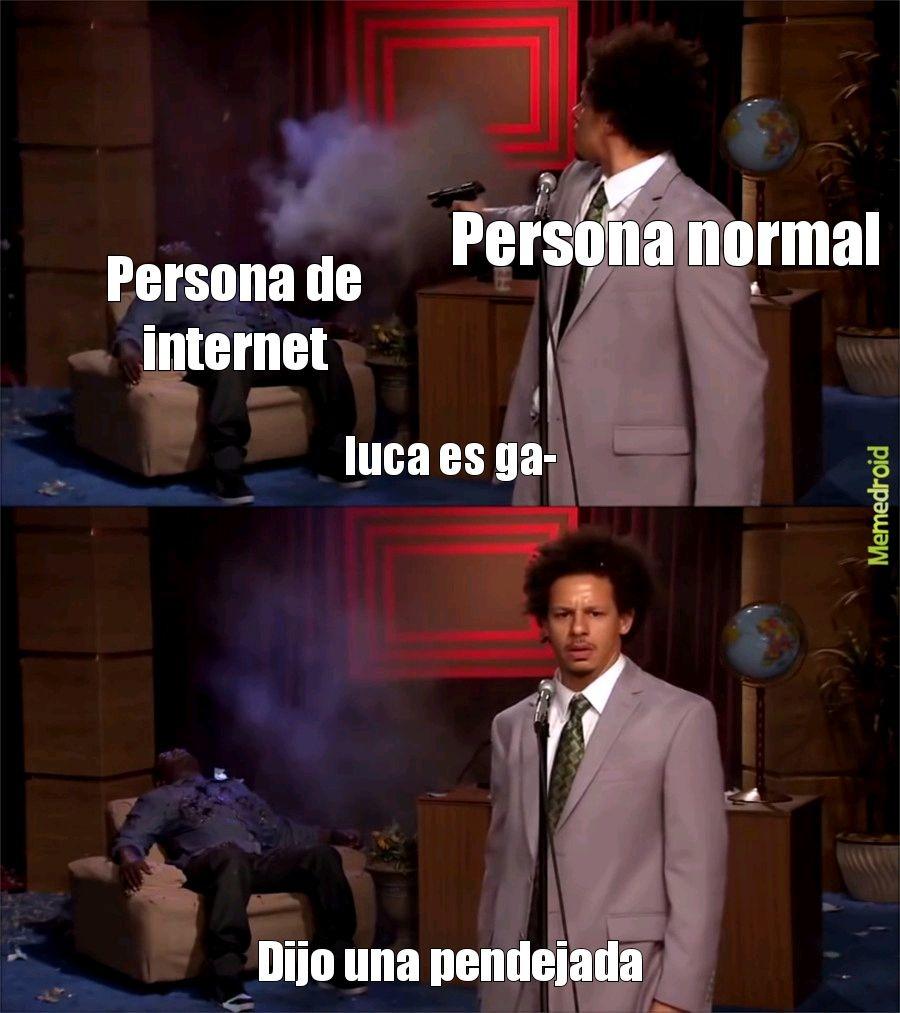 Luca no es gay - meme