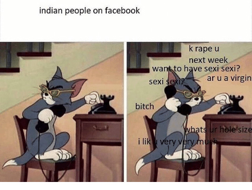 Indians are disgusting - meme