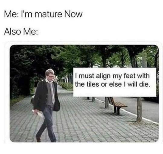 I'm mature now - meme