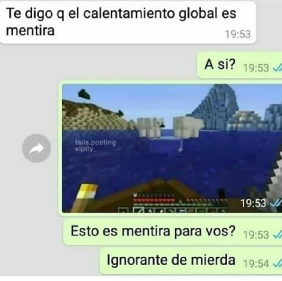 El calentamiento global es una ilusión - meme