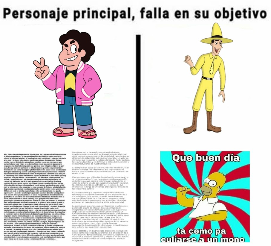 NooOOoO Jorge :c (PD:plantilla muerta) - meme