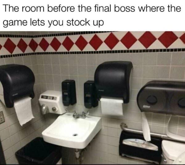 Stock up, the final boss is coming - meme