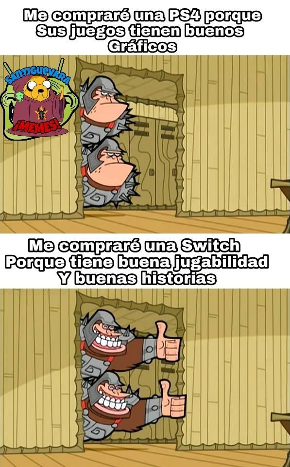 No tengo nada en contra de la PS4 ni de los juegos con buenos gráficos, pero prefiero las historias - meme