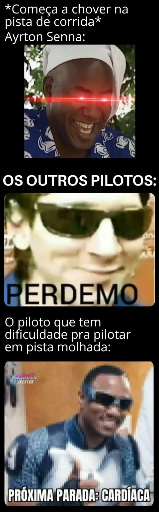 Quem dera se o Senna estivesse vivo hoje em dia - meme