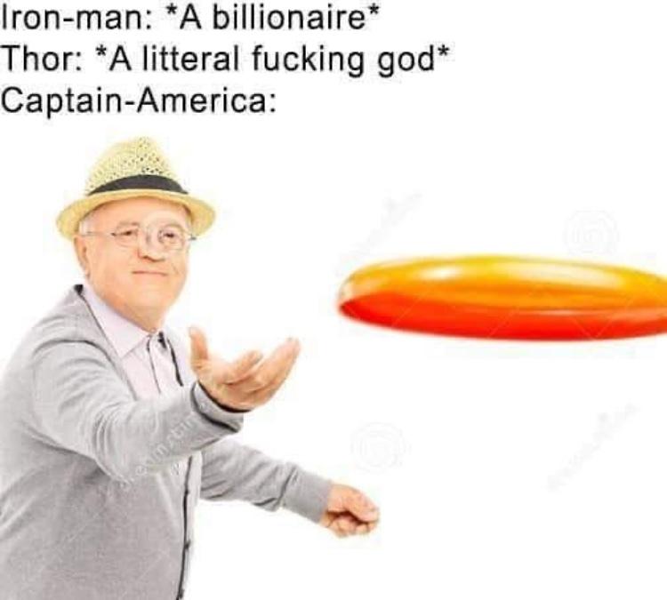 frisbee man - meme