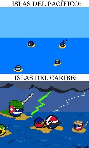Mafia caribeña y paz pacifica - meme