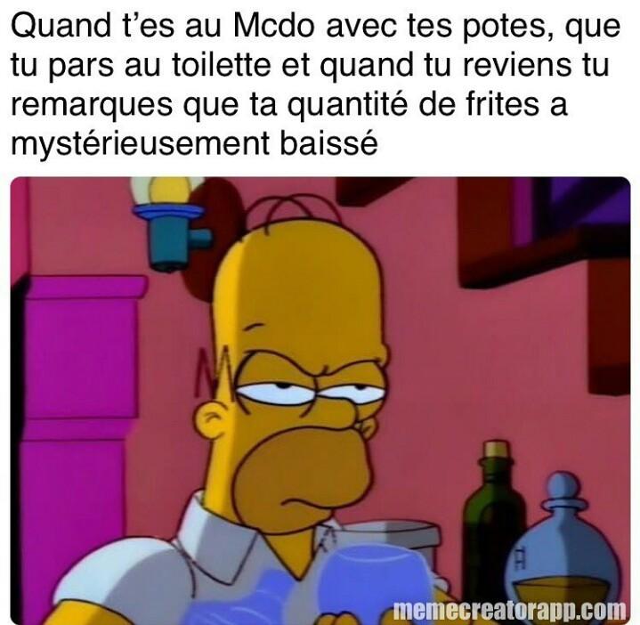 Mes frites sont À MOI!!!! - meme