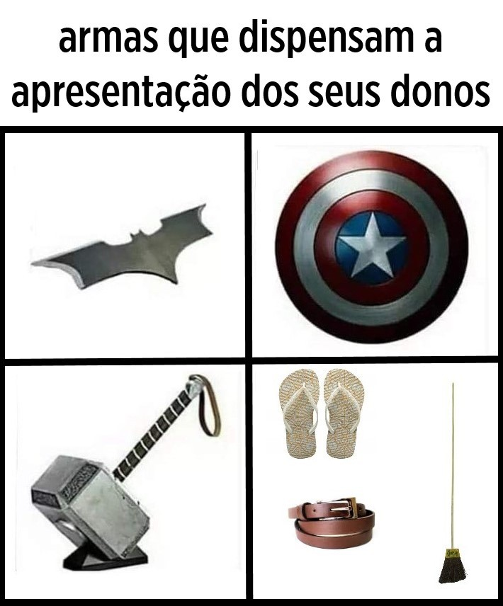 Armas mais mortais - meme