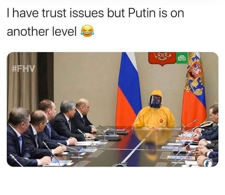 Putin knows what's up - meme