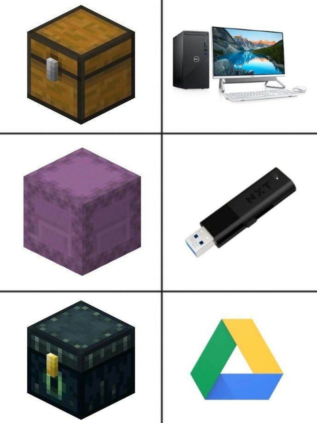 Minecraft n'est qu'une illusion de la vie car en réalité, c'est un ordinateur qui pilote Steve - meme