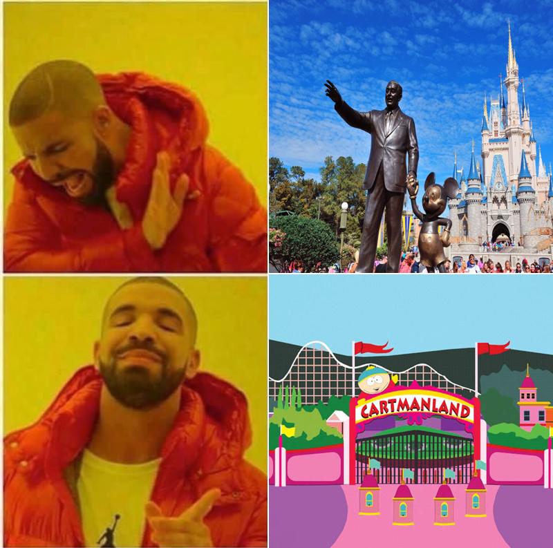 Melhor parque - meme