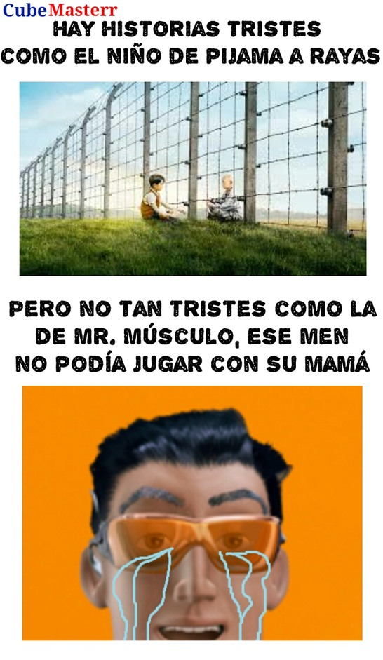 Pobre Mr. Músculo :( - meme