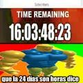 Los dias son horas dice