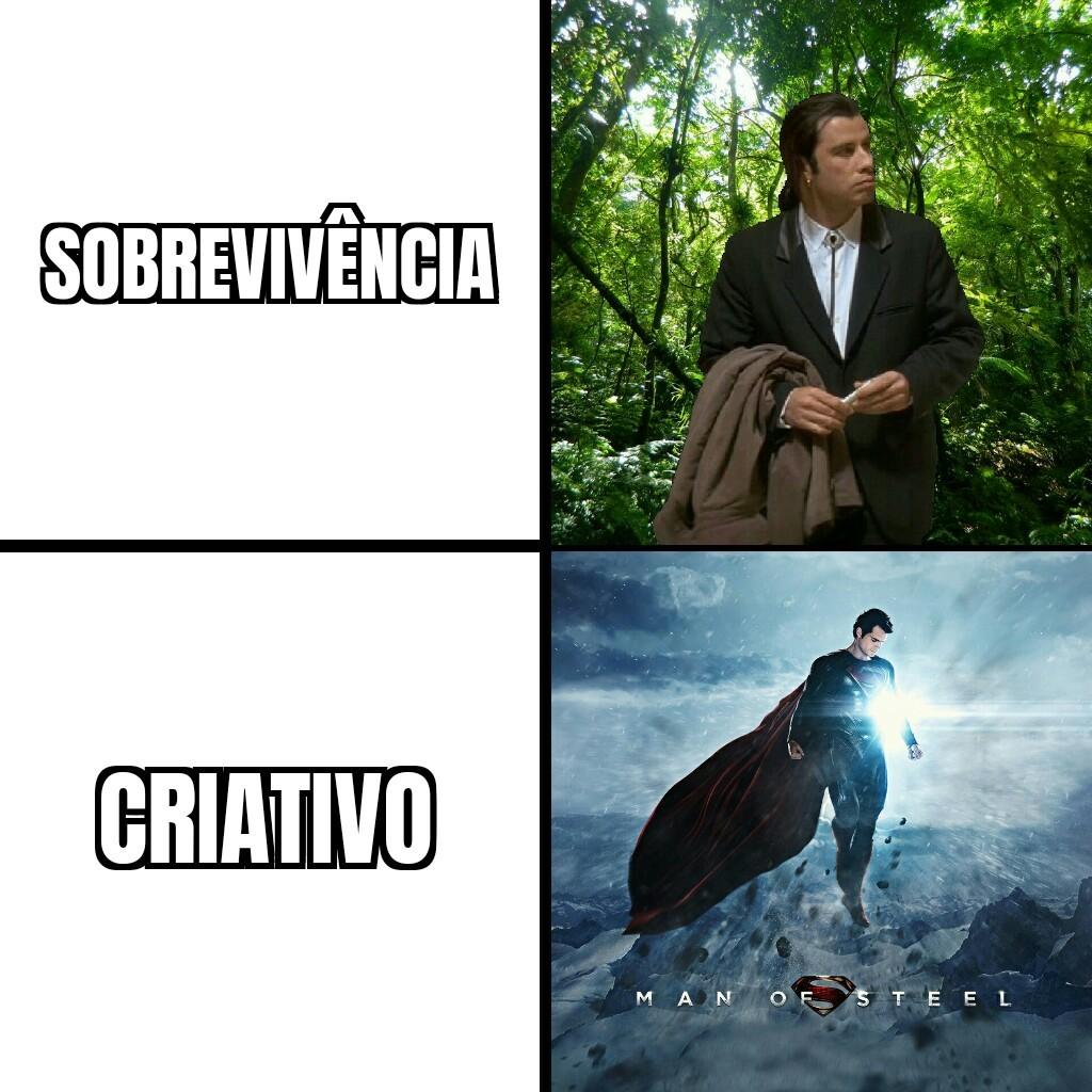 Sobrevivência vs Criativo (Minecraft) - meme
