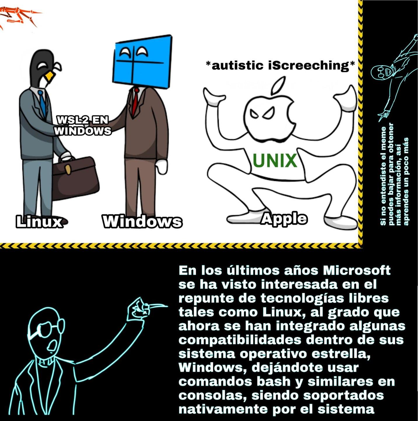 Piola usar bash de Linux en consola de Windows :0 - meme