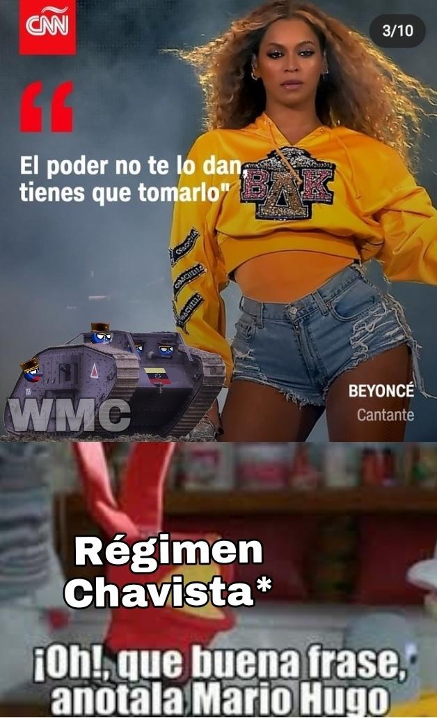 Un sueño erótico que tengo es que bombardeen Caracas y maten a todo partidario del PSUV - meme