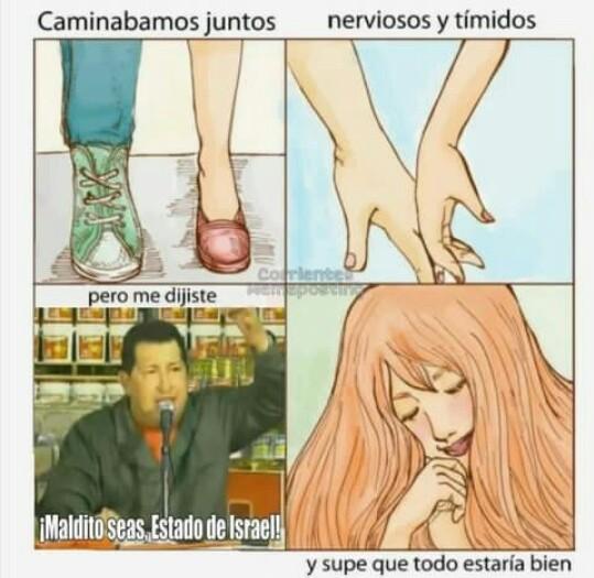 No me enamores Chávez  - meme