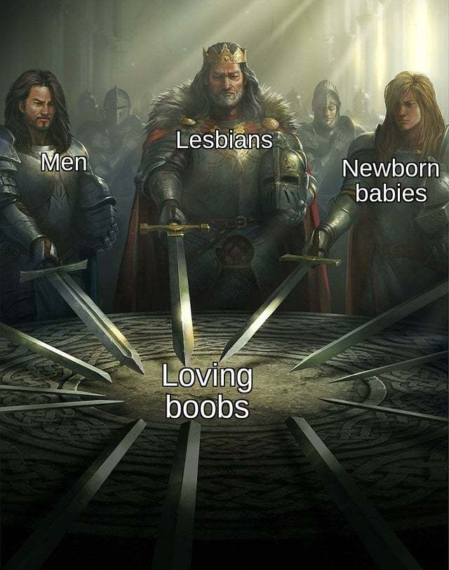 We all love boobs - meme