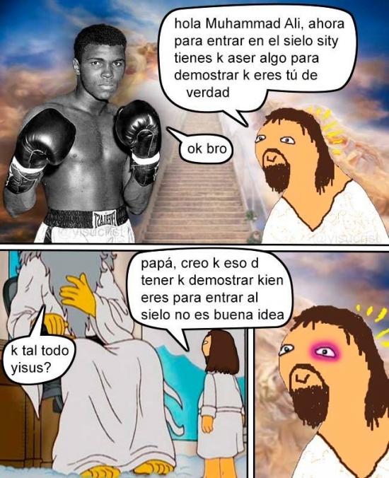 Ali se encuentra con yisus - meme