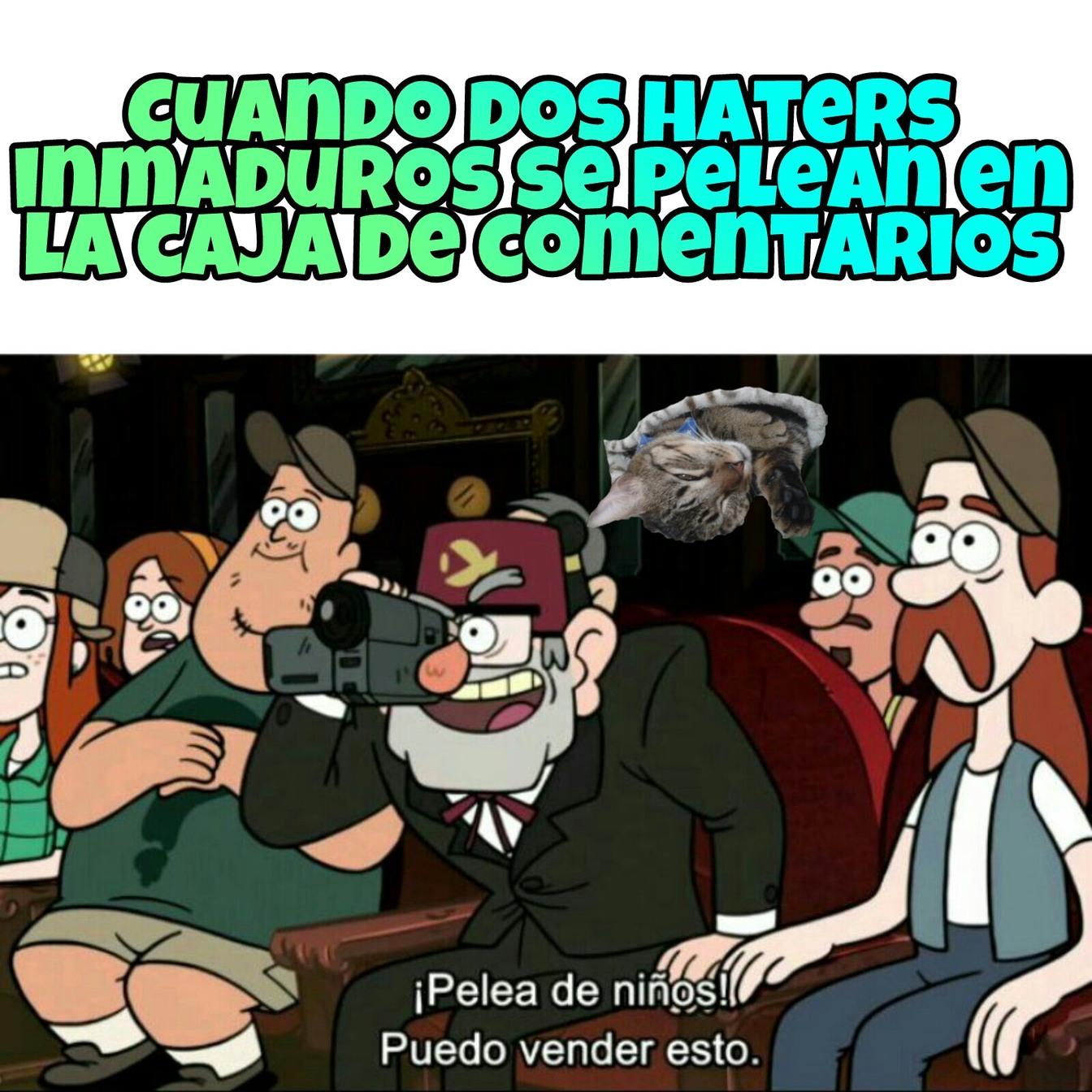 Típicos haters, ejemplo D - meme