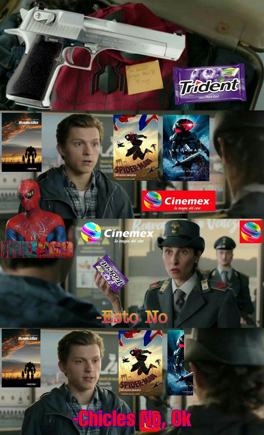 En Realidad En Cinemex Son Buena Onda Y Te Dejan Meter Si Compras Algo, Pero es Mi Cine Más Local Así Que Lo Puse (Lo Empecé a Hacer En Enero Pero Apenas Lo Pude Acabar Ahora, Por Eso La Cartelera) - meme