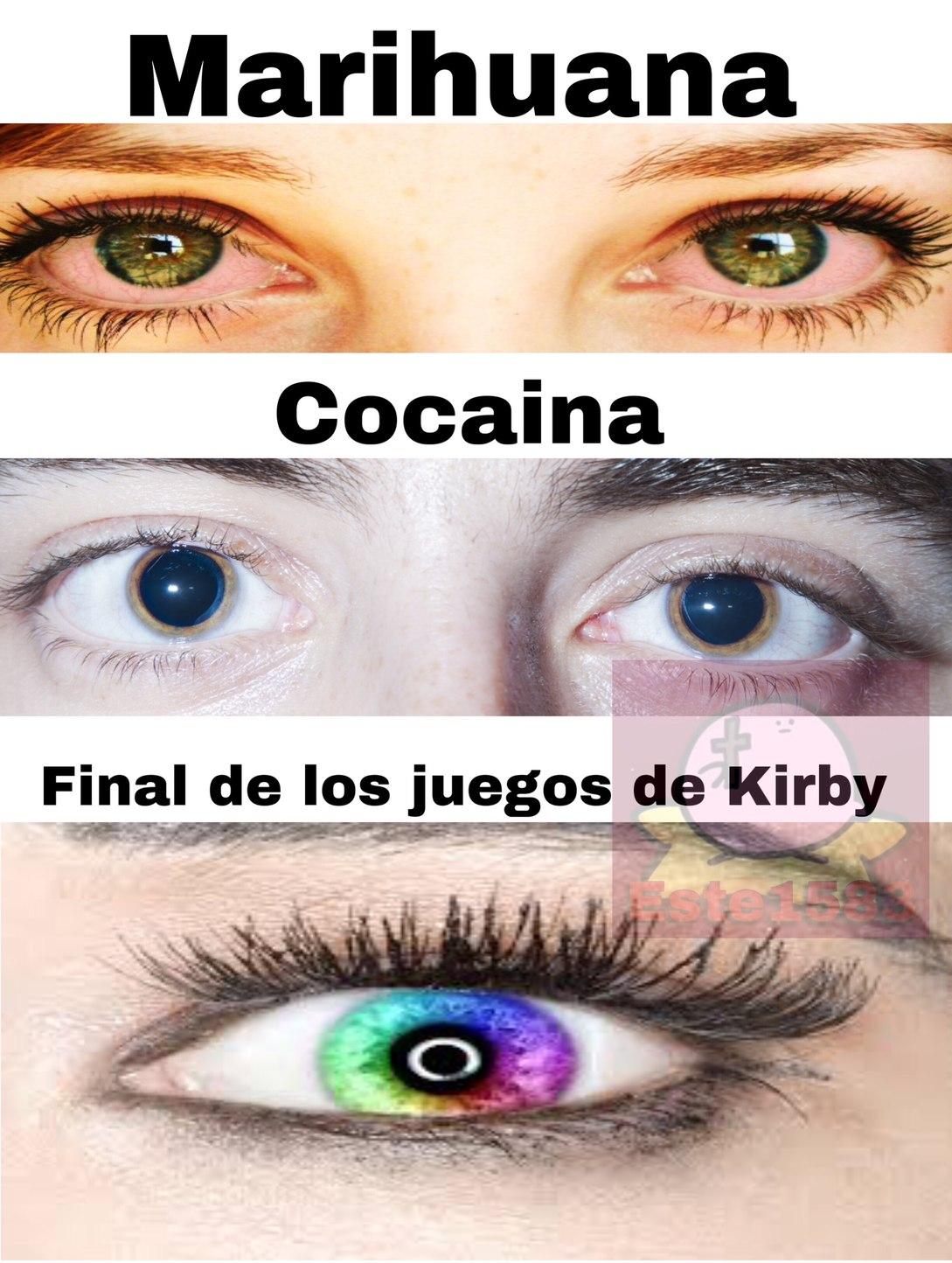 Final de juegos de Kirby, peor que cualquier droga 0: - meme