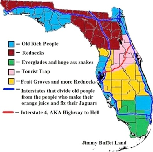 Florida map - meme