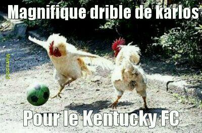 Si ta pas compris ya écrit KFC pour Kentucky FC - meme