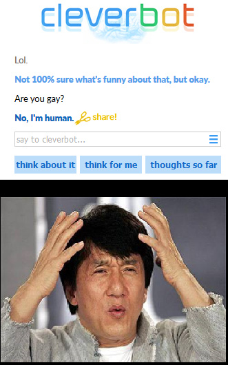 Cleverbot WTF - meme
