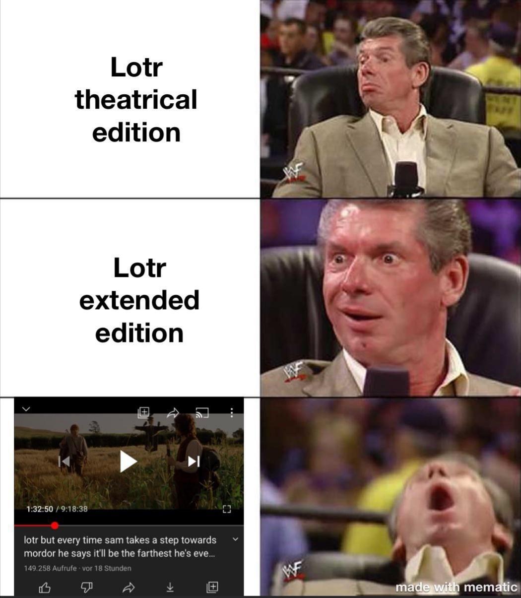 Quality in filmmaking - meme