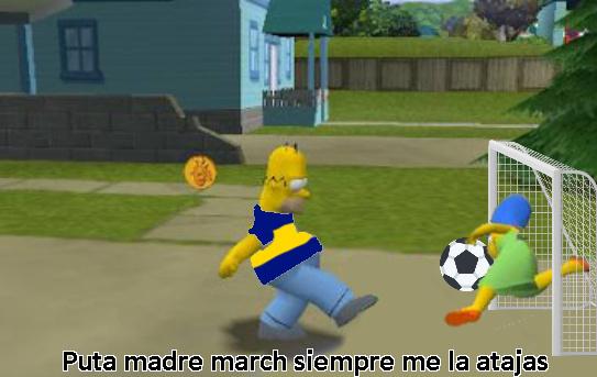 homero futbolista - meme