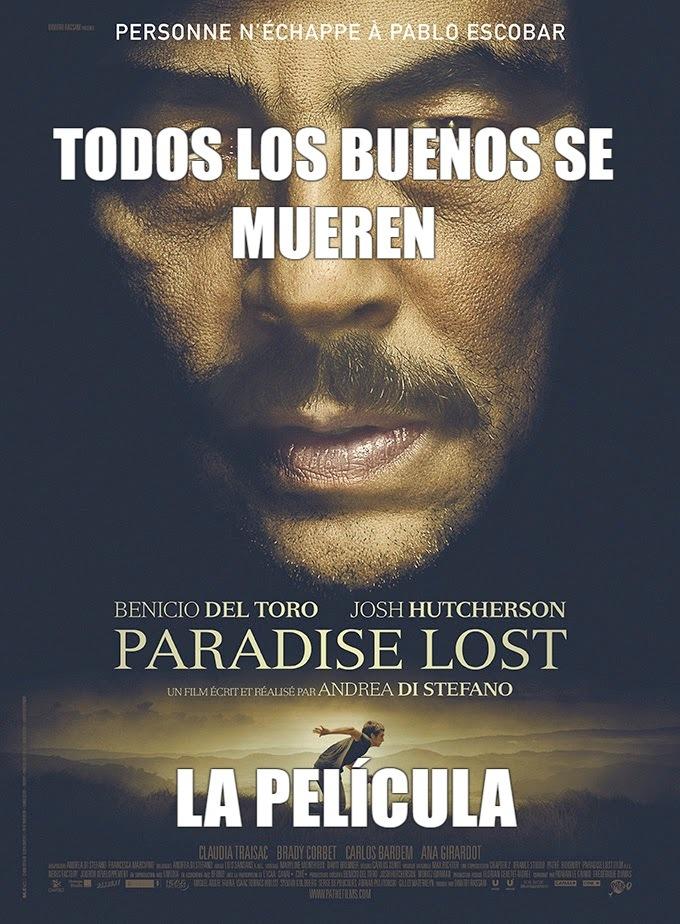 de verdad pensé que el final de Escobar Paraíso perdido sería bonito :okay: - meme