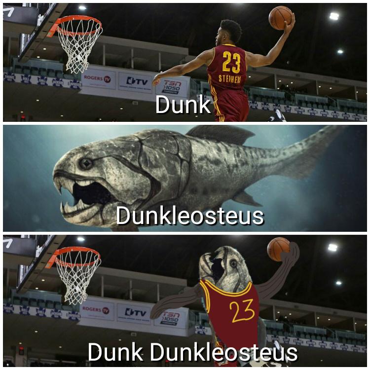 Dunk Dunkleosteus beautiful dunk - meme