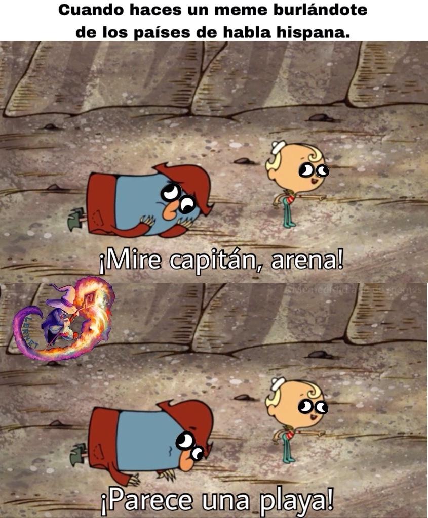La arena está en todos lados, acostumbraos a ella - meme