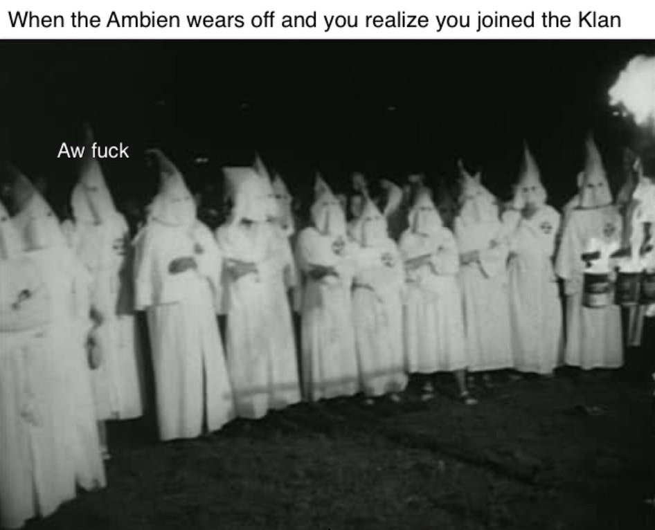 dongs in a klan - meme
