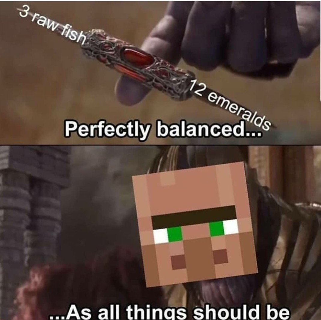 Minecraft balance - meme