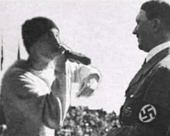 Just Hitler getting roasted - meme