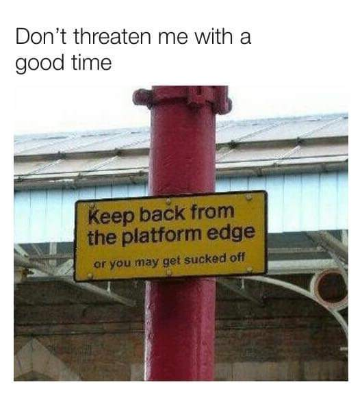 Looking for a good time at the station. - meme