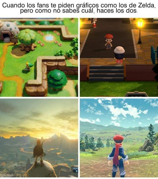 Pokémon Breath of the Wild y Pokémon Ash Awakening - meme