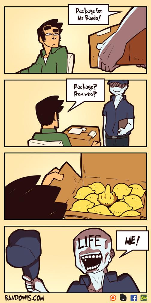 When life gives you lemons - meme