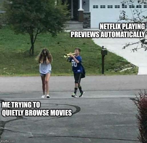 I hate Netflix previews - meme