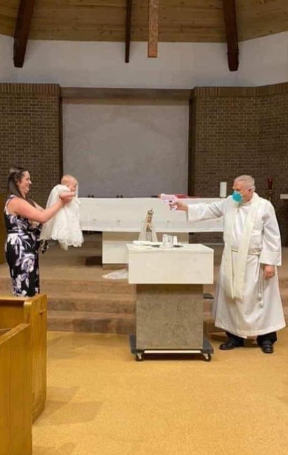 Baptism Covid19 style - meme
