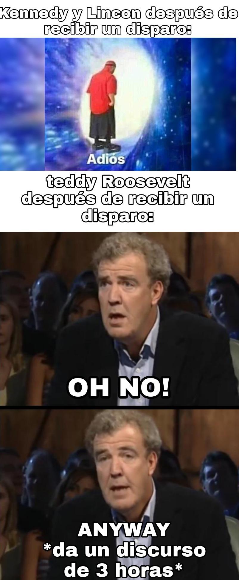 Solo conozco a Roosevelt por esto y por civilization - meme