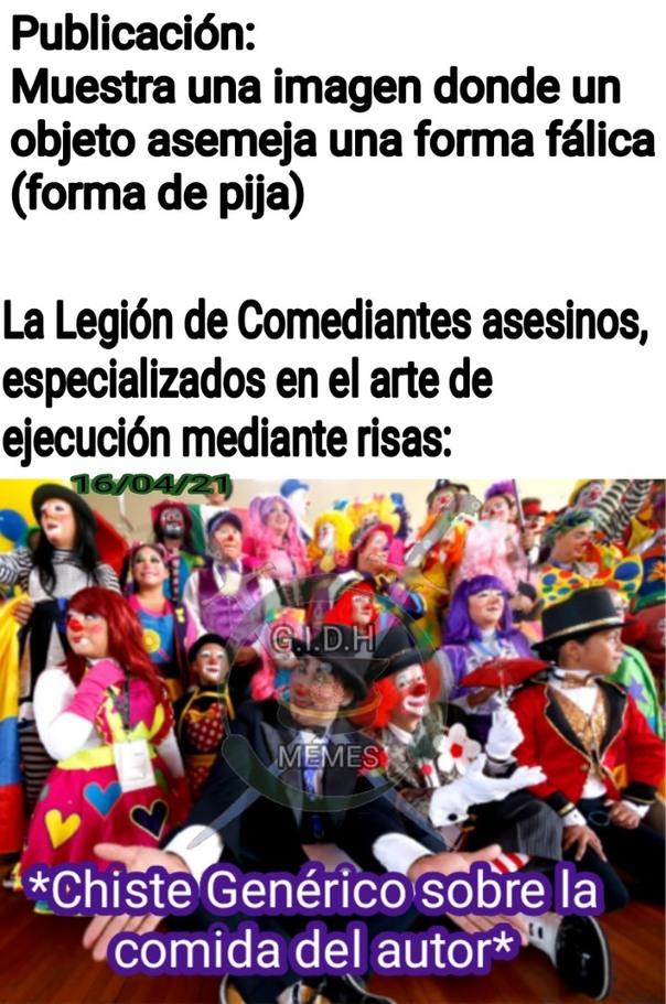 Cuidado Banda, llegaron los Comediantes - meme