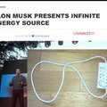 Elon Musk presents infinite energy source