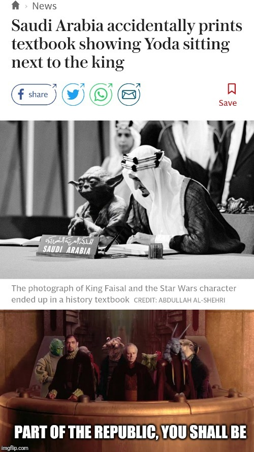 The Jedi council shall protect Arab from this day - meme