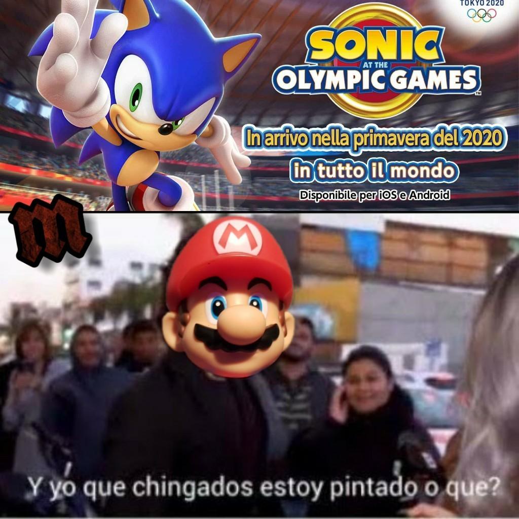 """""""Mario"""" y Sonic en los juegos olímpicos - meme"""