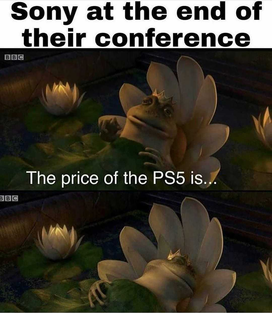 The price of the PS5 is....bruh - meme