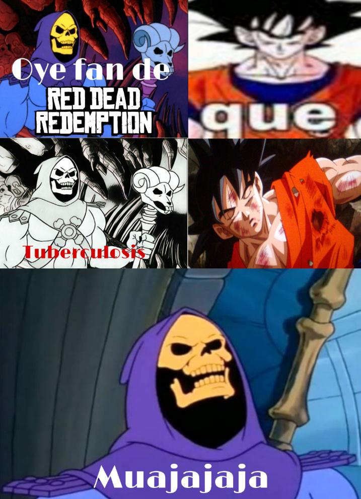 Goku no pudo contra Skeletor - meme