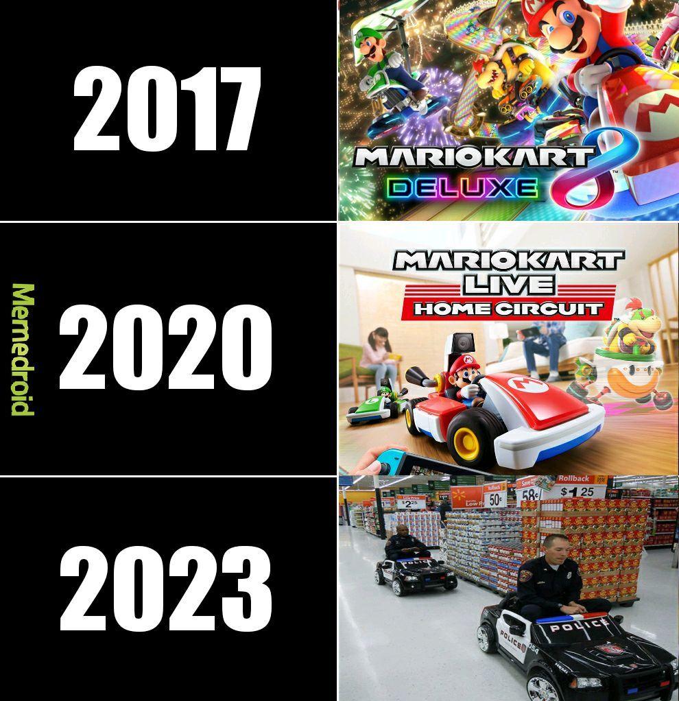 Mario kart en 2023 ... - meme
